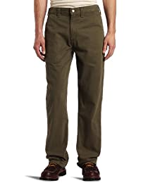 Men's Relaxed-Fit Washed Twill Dungaree Pant