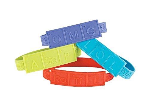 Science Party Rubber DNA Bracelets (12 pcs per unit.)]()