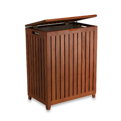 The Simple Classic Teak Hamper by AitraHome