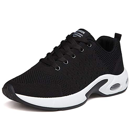 DRVOCYR Mens Knit Breathable Running Casual Sneakers Lightweight Athletic Tennis Walking Shoes(Black EU39) Review