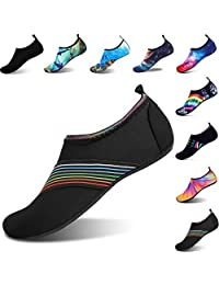 WEAYAM Womens Mens Water Shoes Barefoot Quick Dry Aqua Socks for Beach Swim Surf Yoga Exercise