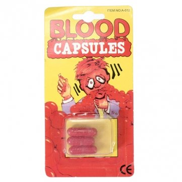 Man Friday 3Pcs Fake Blood Pill Capsules Horror Funny Joking Halloween Party Prop for $<!--$6.99-->