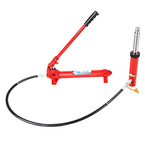 Goplus 2000lbs 10 Ton Hydraulic Jack Hand Pump Ram Replacement for Porta Power Portable Manual Engine Lift Hoist