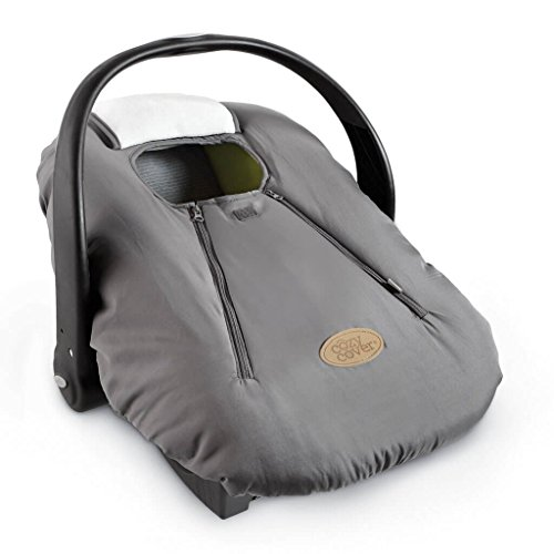 Cozy Cover Infant Car Seat Cover (Charcoal) - The Industry Leading Infant Carrier Cover Trusted by Over 5.5 Million Moms Worldwide for Keeping Your Baby Cozy & Warm
