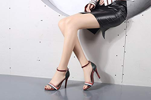 So simpok Womens Open Toe Stiletto High Heel Ankle Strap Sandals Shoes for Usual Daily Wear