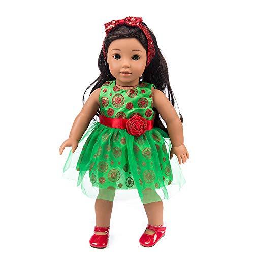ece8780ae0962 Fulltime Robe pour poupée, Vêtements de Noël Habiller pour 18 inch American  Baby Doll Accessoire