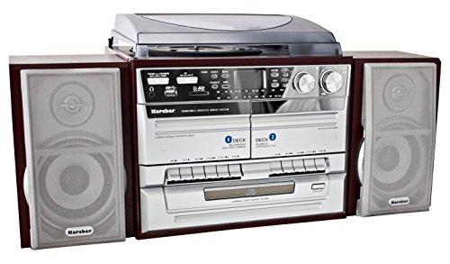 Karcher KA 320 Compact systeem (CD-speler, dubbele cassettedek, platenspeler, USB, SD-kaartlezer, radio…