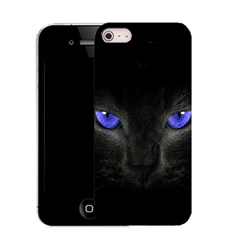 """Mobile Case Mate iPhone 6S Plus 5.5"""" clip on Silicone Coque couverture case cover Pare-chocs + STYLET - blue panther eyes pattern (SILICON)"""