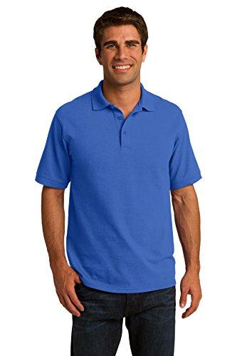 Mens Blue Port Company Polo Port Company Blue Mens Polo