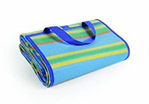 "Camco Handy Mat with Strap, Perfect for Picnics, Beaches, RV and Outings, Weather-Proof and Mold/Mildew Resistant (Blue/Green - 60"" x 78"")"