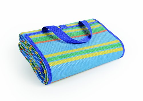 "Camco Handy Mat Strap, Perfect Picnics, Beaches, RV Outings, Weather-Proof Mold/Mildew Resistant (Blue/Green - 60"" x 78"") (42805)"