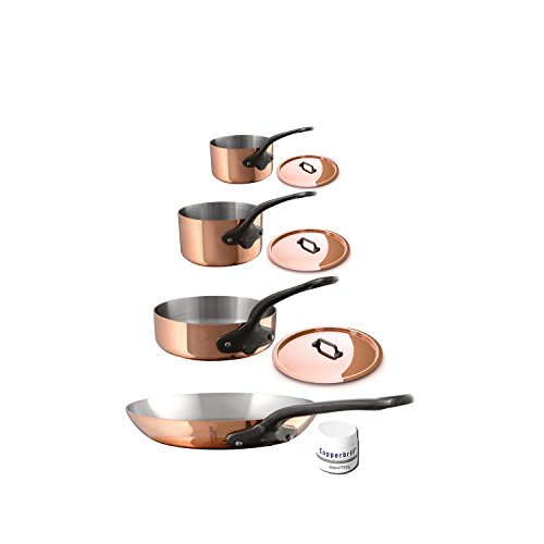 Mauviel 6530.07  MHeritage M250C 2.5mm Copper Cookware Set, 7pc
