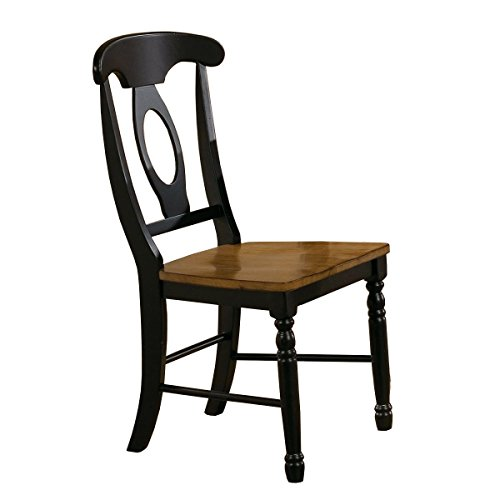 Winners Only Quails Run Napoleon Dining Side Chair Set of 2 in Almond/Black - DQ1451SAE