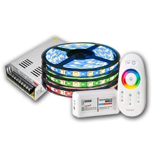 15m IP20 RGBW (RGB+Warmweiß) LED Streifen mit 900 LEDs (SMD 5050) + RF Touch Fernbedienung +12v 20A 250W Netzteil STROMVERSORGUNG für Haus & Outdoor Decorative …