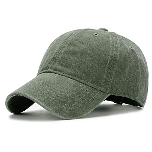 Kekebag Men & Women's Washed Cotton Baseball Caps Adjustable Plain Dad Hat ()