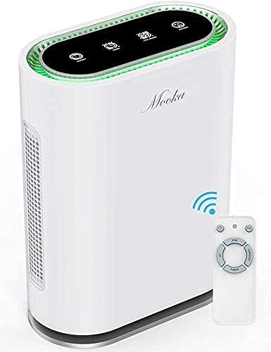 Mooka True HEPA+ Air Purifier with Auto Mode, Air Quality Sensor