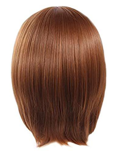 Angelaicos Unisex Short Wig Lolita Harajuku Halloweeen Anime Cosplay Party Costume Full Wigs (Brown) ()