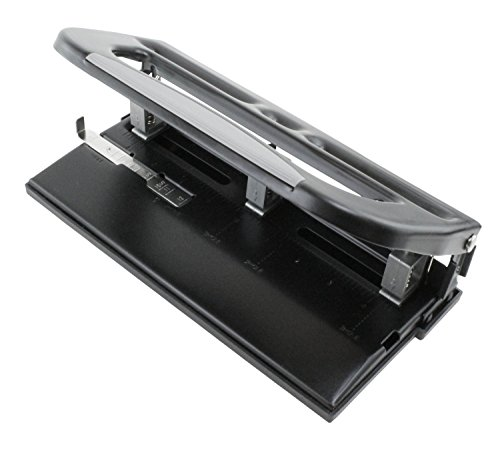 Heavy Duty Adjustable 3-Hole Punch - Up To 30 Sheets! - 3 Hole Adjustable Punch