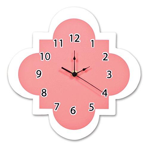Coral Wall (Trend Lab Quatrefoil Wall Clock, Coral)
