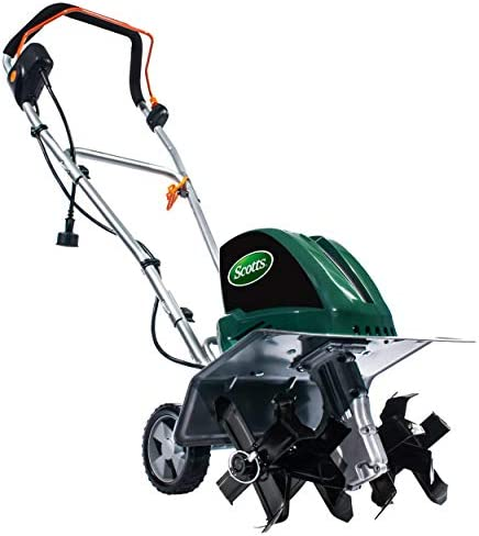 Scotts Outdoor Power Tools TC70135S 13.5-Amp 16-Inch Corded Tiller Cultivator, 11 Wide and 8 deep, Green