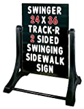 Swinger Sidewalk Sign Changeable Message Board Sign, Black