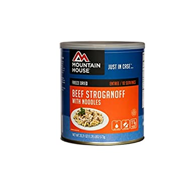 Mountain House Beef Stroganoff with Noodes #10 Can