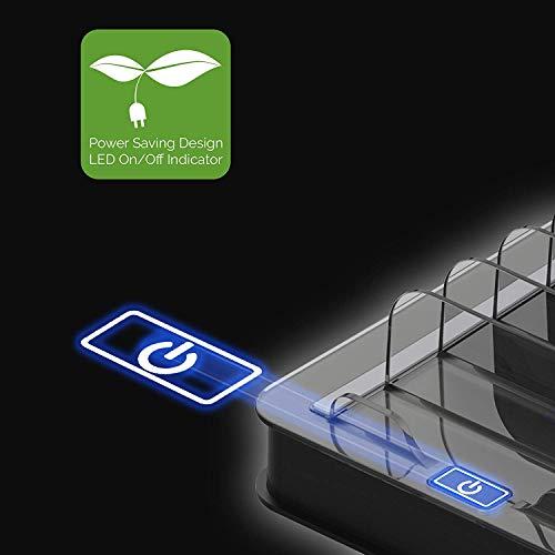 Kavalan 10 Port USB Charging Station Dock & Organizer, Universal Desktop Tablet & Smartphone Multi-Device 10 Port USB Charger Hub with Auto Detect Smart Rapid Charg (10 Port+65W/Support 10iPad/Black)