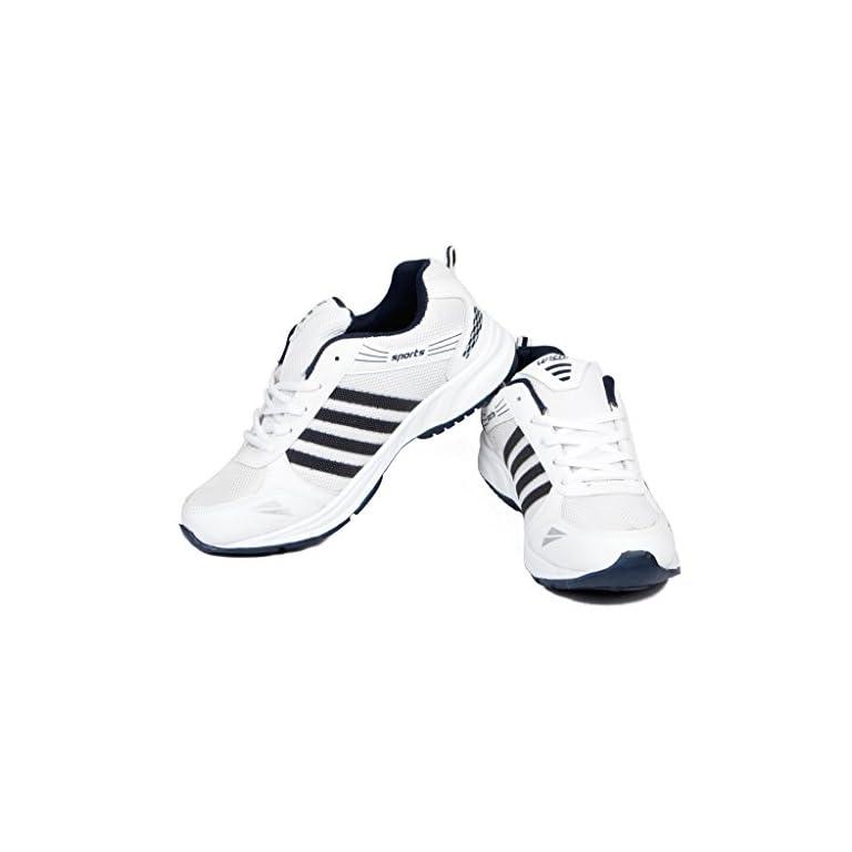 417kBohpwXL. SS768  - Asian shoes Men's Sports Shoe White Navy Blue Mesh 8 UK/Indian