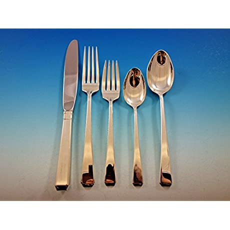 Craftsman By Towle Sterling Silver Flatware Set For 8 Service 40 Pieces