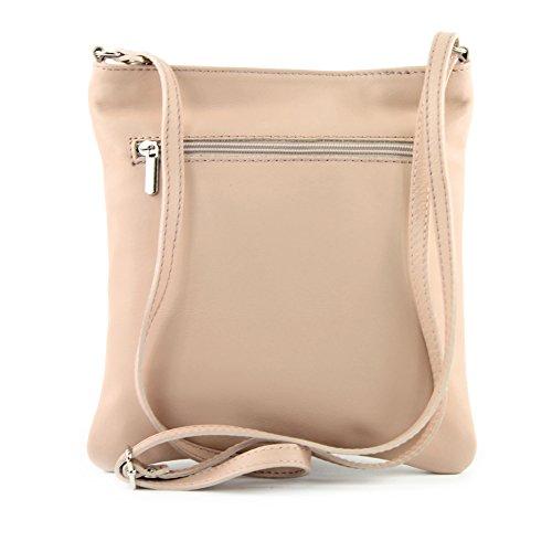 modamoda de - Made in Italy - Bolso cruzados para mujer Klein Rosabeige