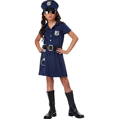 California Costumes Police Officer Child Costume, Medium - Girls Cop Costumes