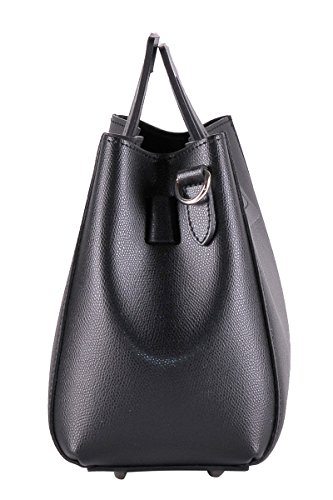 Borsa Pelle 100 in da Donna BORDERLINE Italy in LIDIA Vera Nero rigida Made nITvUqH