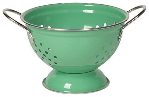 Now Designs Metal Colander, 1-Quart, Greenbriar Green