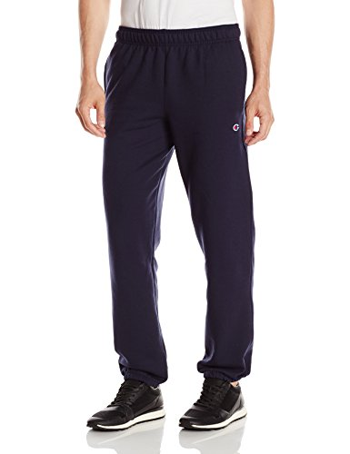 Cotton Sweatpants Blend (Champion Men's Powerblend Relaxed Bottom Fleece Pant, Navy, M)