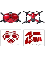 FPVtosky PVC Sticker for DJI FPV,Skin Stickers for Flying Gl and Drones, DJI FPV Combo Drone Accessories, Easy to Stick and Tear, No Glue Residue(red)