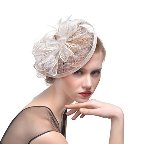 FeiYu Crafts Fascinator Ribbons Feathers product image