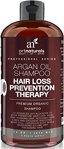 Art Naturals Arganöl Shampoo gegen Haarausfall 473 ml, Hilft gegen Haarausfall und Verdünnung der Haare | Verlangsamt Glatzenbildung und Geheimratsecken |