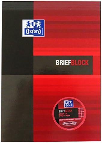 Oxford A4Refill Notizblock, 50Blatt Motivpapier auf 90gsm, 5mm kariert liniert