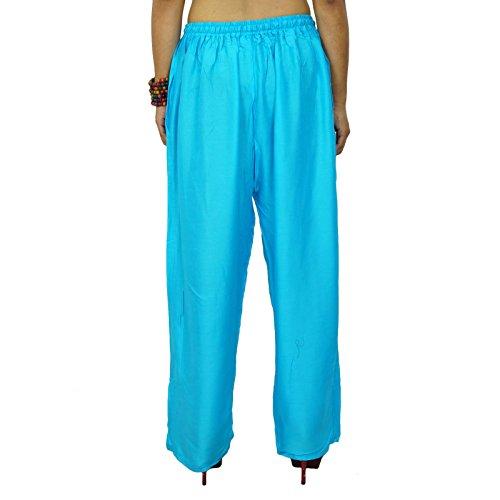 Pantalones Harem indio Aladdin Casual Hippie Pantalones harem holgado de las mujeres Bleu