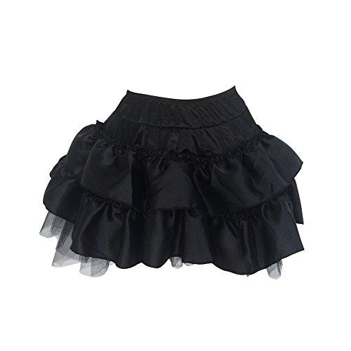 Burlesque Dance Costumes (Lorembelle Women's SexyLorembelle Dance Skirt Burlesque Corset Fancy Dress Party Costumes Set 3 Style (S /US 2, black))