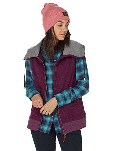 Burton Women's Starr Vest Sweater Fleece Starling Heather Size Small