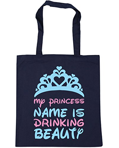 name drinking x38cm 10 litres Shopping Tote princess Bag HippoWarehouse Navy Gym French is Beach beauty My 42cm 7HOnIwxqEw