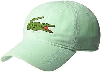 Lacoste Men's Big Croc' Gabardine Cap, Aspera, ONE