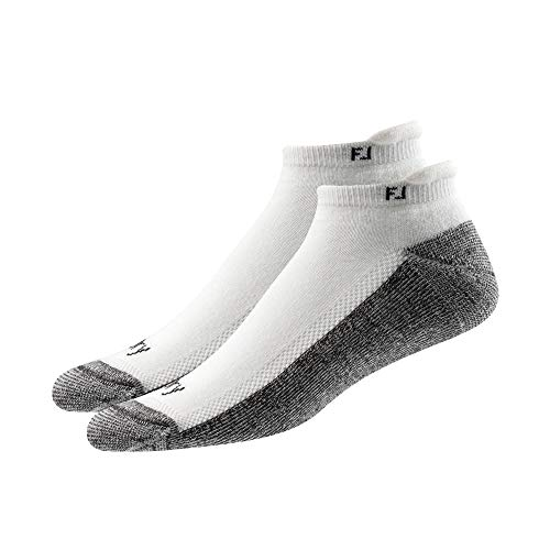 - FootJoy Men's ProDry Roll Tab 2-Pack Socks White Size 7-12
