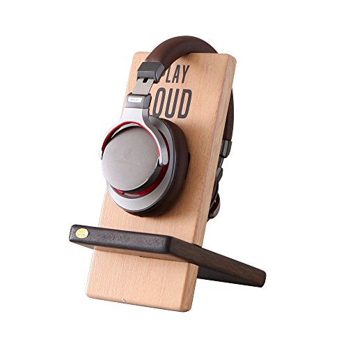 (NIKKY HOME Handmade Wood Headphone Stand Holder)