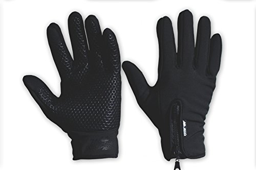 - Mountain Made Cold Weather Genesis Gloves for Men & Women, Medium, Black