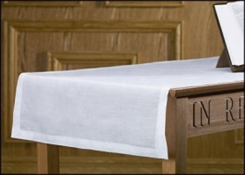 Christian Brands Altar Runner 100% Linen 100% Linen 24 x 62' L, White by Christian Brands