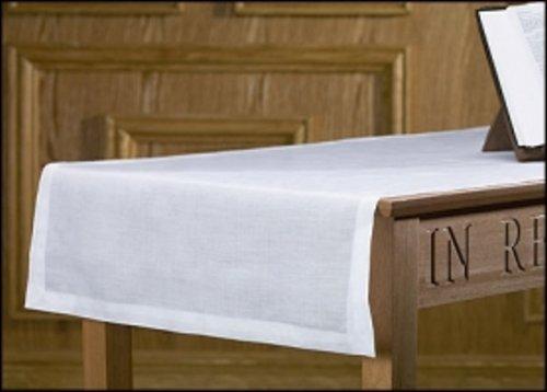 Christian Brands Altar Runner 100% Linen 100% Linen 24 x 62' L, White (Communion Table Linen)