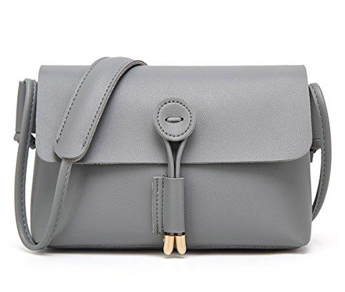 HopeEye mujer Tendencias de la moda Cuero De La Pu Mochila para mujer(gzaspunb03-1-Black) 4-gris