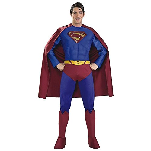 Superman Costume Returns Belt (Rubie's Costume Supreme Edition Muscle Chest Superman, Blue/Red, X-Large)